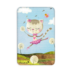 "DanzArte ""Dancing Cat On Meadow"" Vinyl Laminated Magnet"