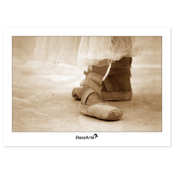 "DanzArte ""Pointe Shoes Sepia"" Postcard"