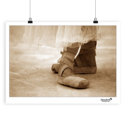 "DanzArte ""Pointe Shoes Sepia"" Poster"
