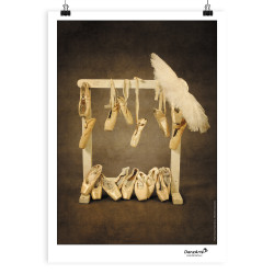"DanzArte ""Hanging Pointe Shoes"" Poster A3"