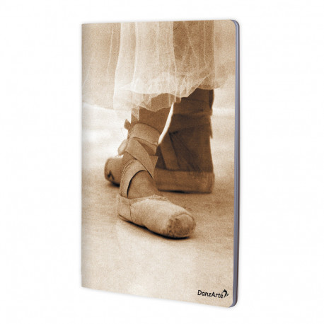"DanzArte ""Pointe Shoes Sepia"" A4 Notebook matt, laminiert"