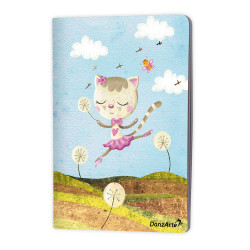 "DanzArte ""Dancing Cat On Meadow"" A5 matt laminated notebook"