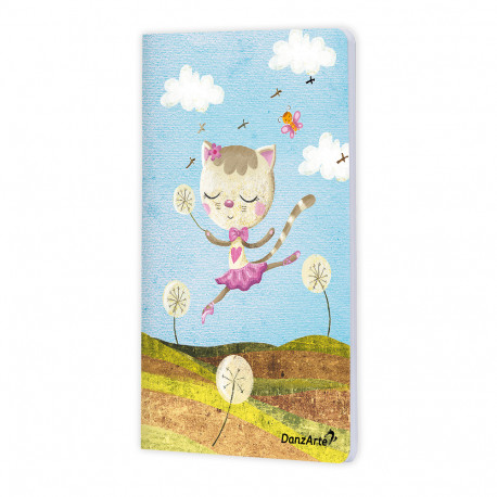 "DanzArte ""Dancing Cat On Meadow"" A6 Jegyzetfüzet"