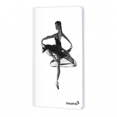 "DanzArte ""Turning Pointe"" A6 matt laminated notebook"
